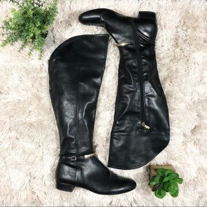 Marc Fisher | Knee High Black Leather Boots 9.5